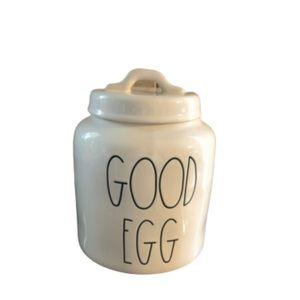 Rae Dunn Good Egg Cookie Treat Canister Jar